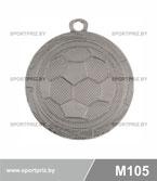 Медаль футбол M105 серебро