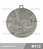 Медаль хоккей M112 серебро