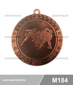 Медаль хоккей M184 бронза