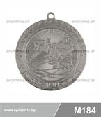 Медаль хоккей M184 серебро