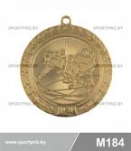Медаль хоккей M184 золото