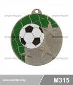 Медаль футбол M315 серебро