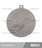 Медаль футбол M501 серебро