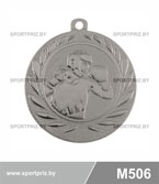 Медаль бокс M506 серебро