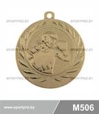 Медаль бокс M506 золото