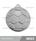 Медаль футбол M885 серебро