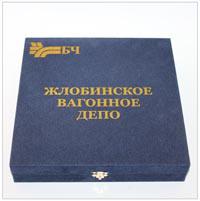 коробка для тарелки флокированная с шелкографией